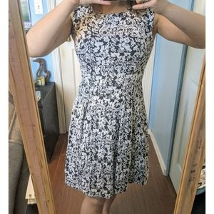 Dynamite Floral Fit & Flare Dress